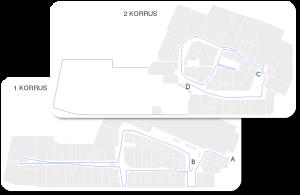 Rocca al Mare keskuse plaan