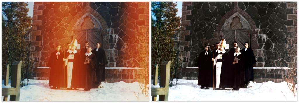 Värvifoto restauratsioon